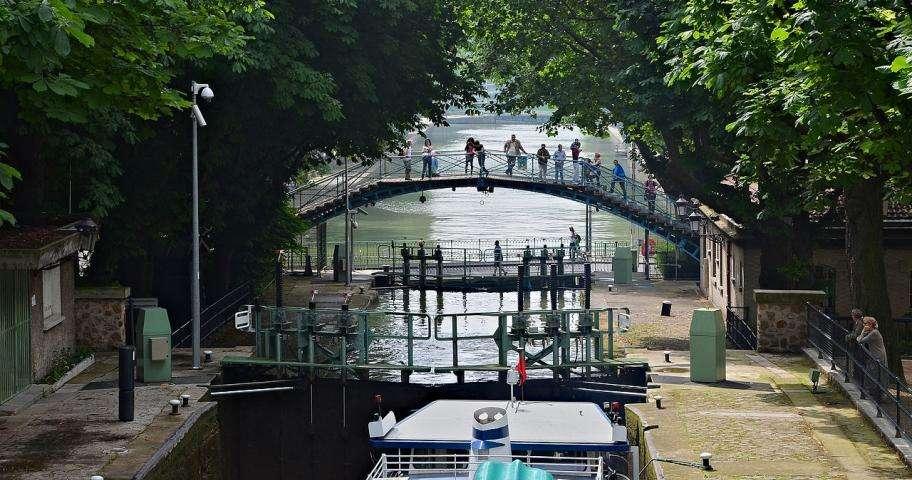 Ride along the Canal Saint Martin, an essential trip