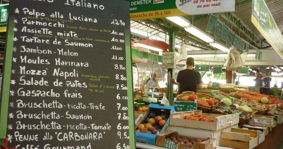Stop at the little market for lunch or shopping